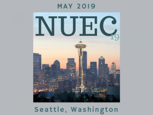 "National Urban Extension Conference flyer with text: ""MAY 2019, seattle washington"""