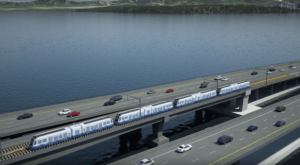 i90 floating bridge with lightrail