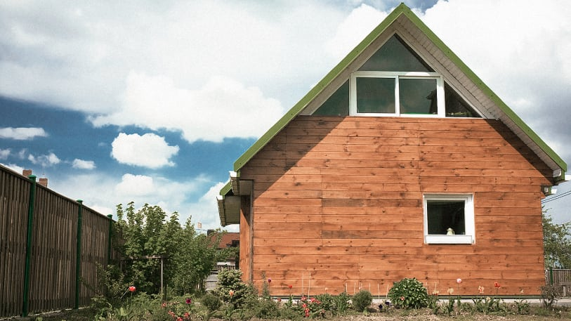 Wooden house with minimal windows