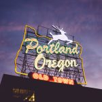 Neon sign: portland oregon