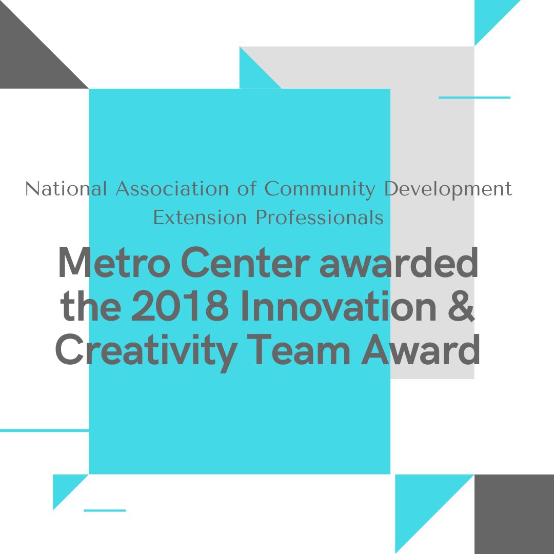 Nat Assoc of Community Development Professionals Award