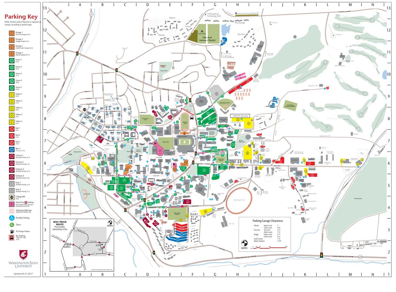 Parking Maps | Transportation Services | Washington State University