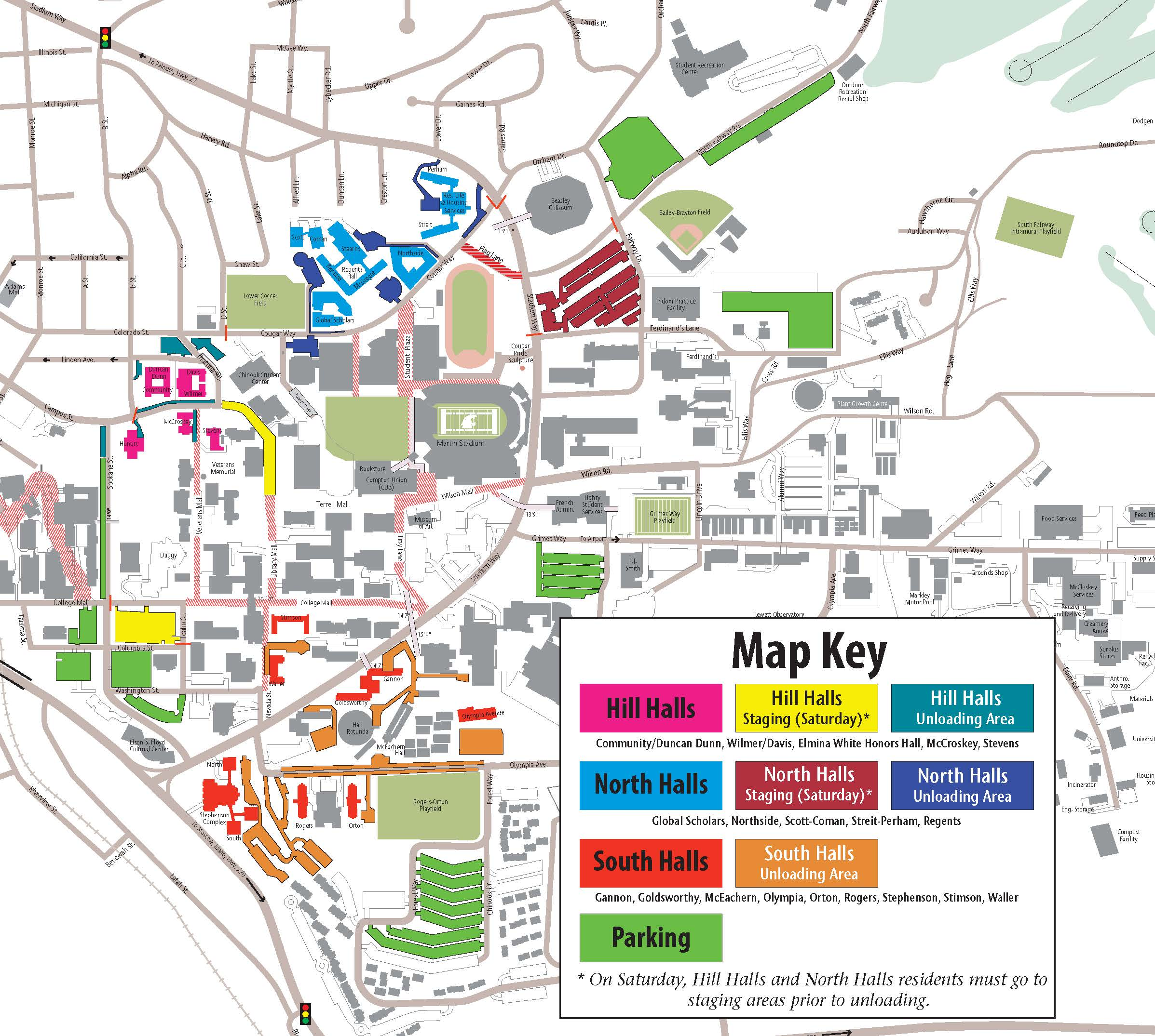 Parking Maps | Transportation Services | Washington State University