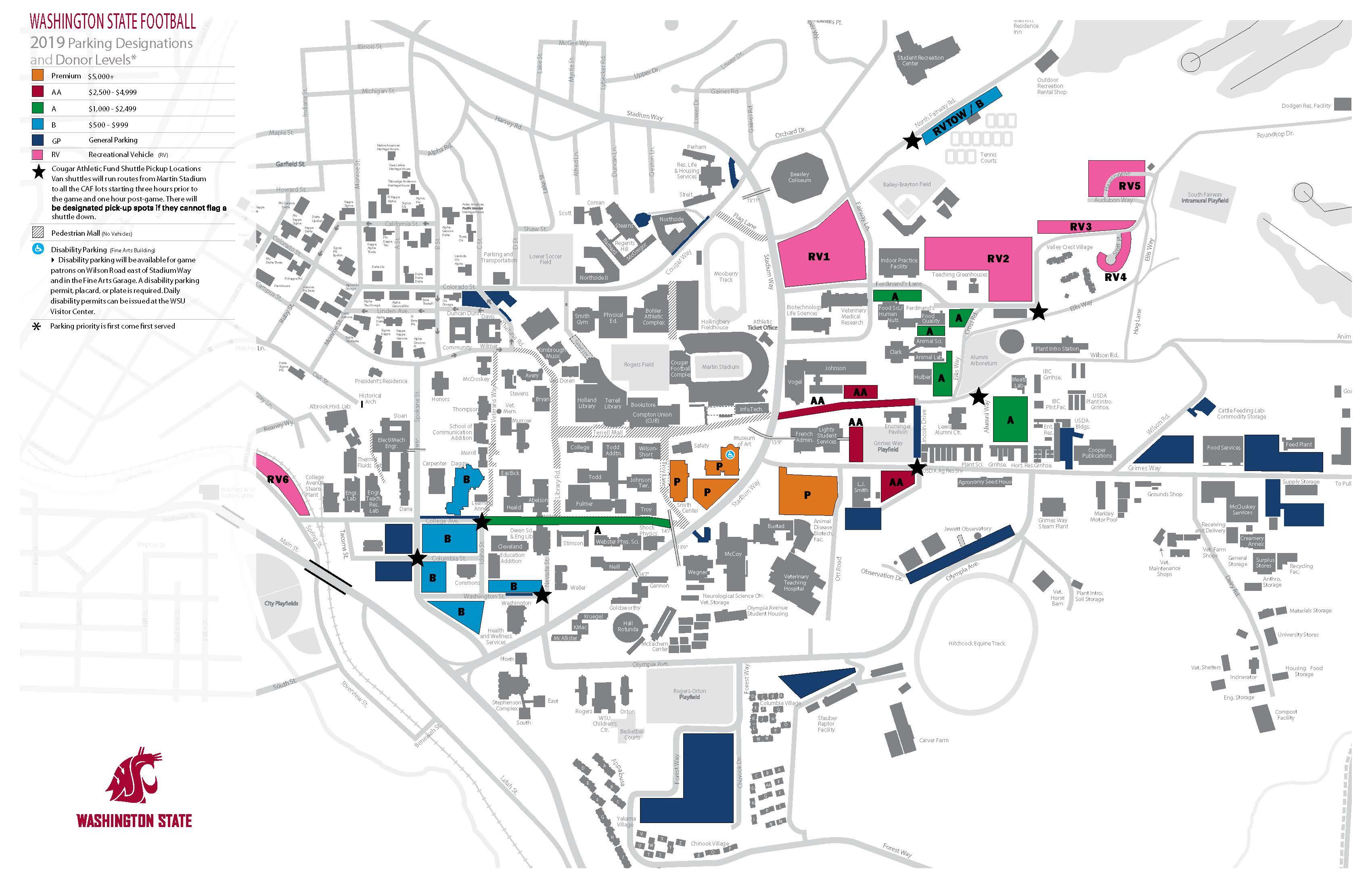Parking Maps   Transportation Services   Washington State University