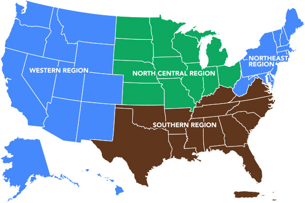 A map of regional risk management education centers
