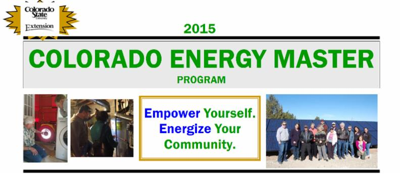 2015 CSU Energy Master Program Banner with Text: Empower Yourself. Engergize your Community
