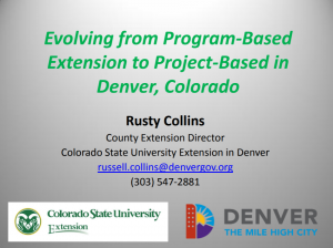 Evolving from Program-based extension to project based extension slide