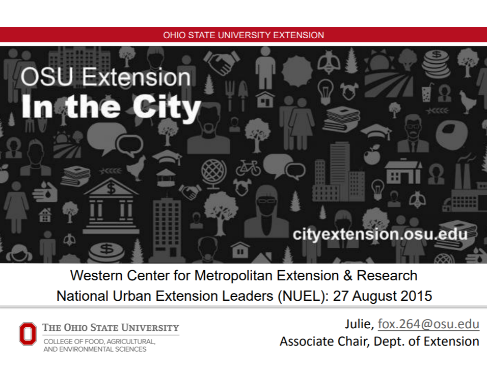 Webinar slide: OSU Extension in the city