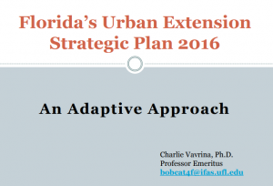 Florida's Urban Extension Strategic Plan 2016