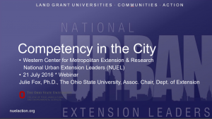 Competency in the city Flyer