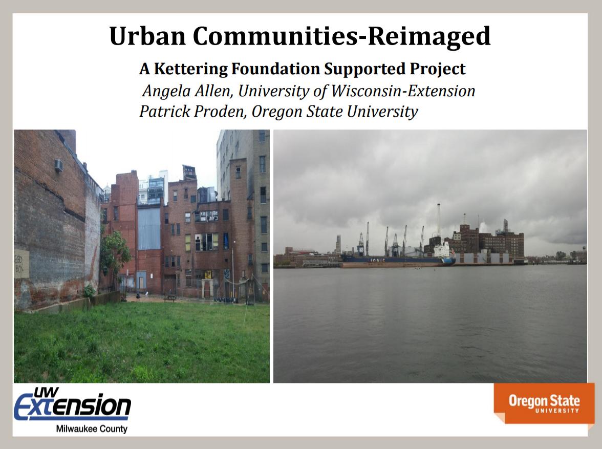 Webinar slide: Urban Communities-Reimagined