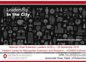 Leadership in the city Slide