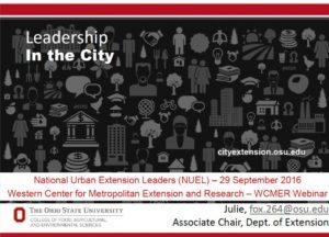 Leadership in the city Slide