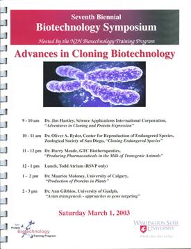 Spring 2003 Symposium Flyer