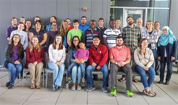 A group picture of the 2015-2016 NIH student training program