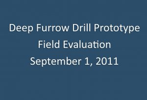 Cover for the Deep Furrow Drill video.