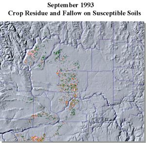 AVHRR image from September 1993. Crop residue and fallow
