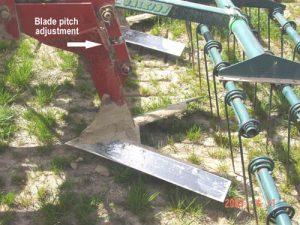 Undercutter V-sweep blade