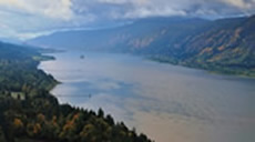 The Columbia River Gorge landscape.