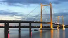 The Tri-Cities cable bridge