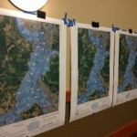 Chehalis Maps mounted on a wall for display