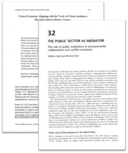 Cover of the public sector as mediator.