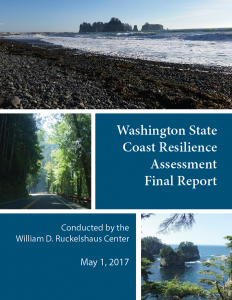 Cover of the Washington State Coast Resilience Assessment Final Report