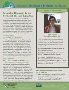 Advancing Bioenergy in the Northwest Through Education