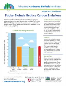 Poplar Biofuels Reduce Carbon Emissions