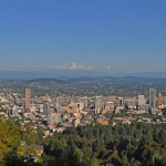 View from Pittock Mansion over the city of Portland. Photo credit: Harshil Shah
