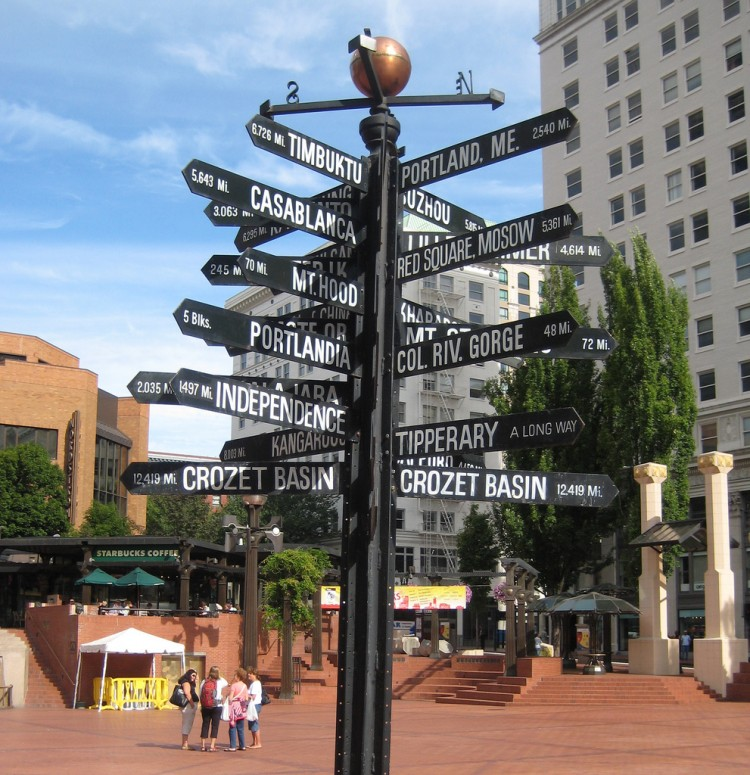 Pioneer Courthouse Square is a short walk from the hotel. These destinations are much farther. Photo credit: Phil Whitehouse