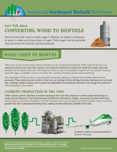 Converting Wood to Biofuels