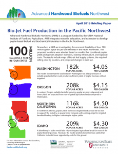Bio-Jet Fuel Production in the Pacific Northwest