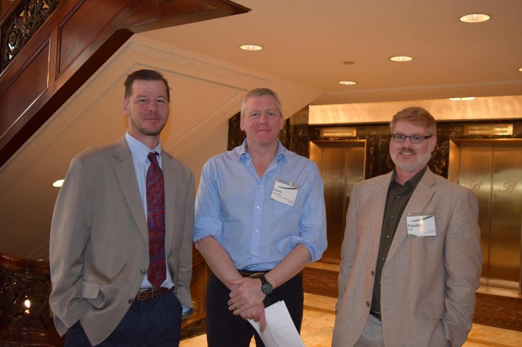 Three presenters at the Poplar Willow Forum