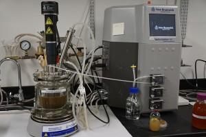 The enzymatic hydrolysis machine in the University of Washington lab.