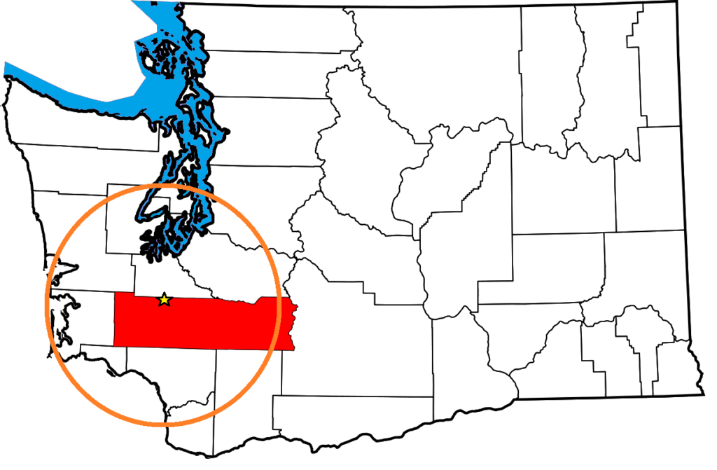 Map of SW WA and Lewis County