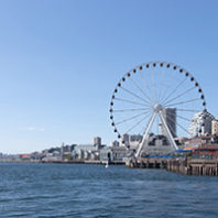 seattle waterfront ferris wheel.