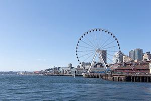 seattle waterfront ferris wheel.