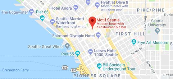 Map to Motif Hotel Seattle
