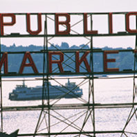 pike's place public market sign.