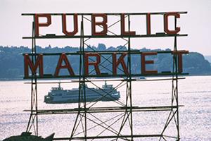 pike's place public market sign.