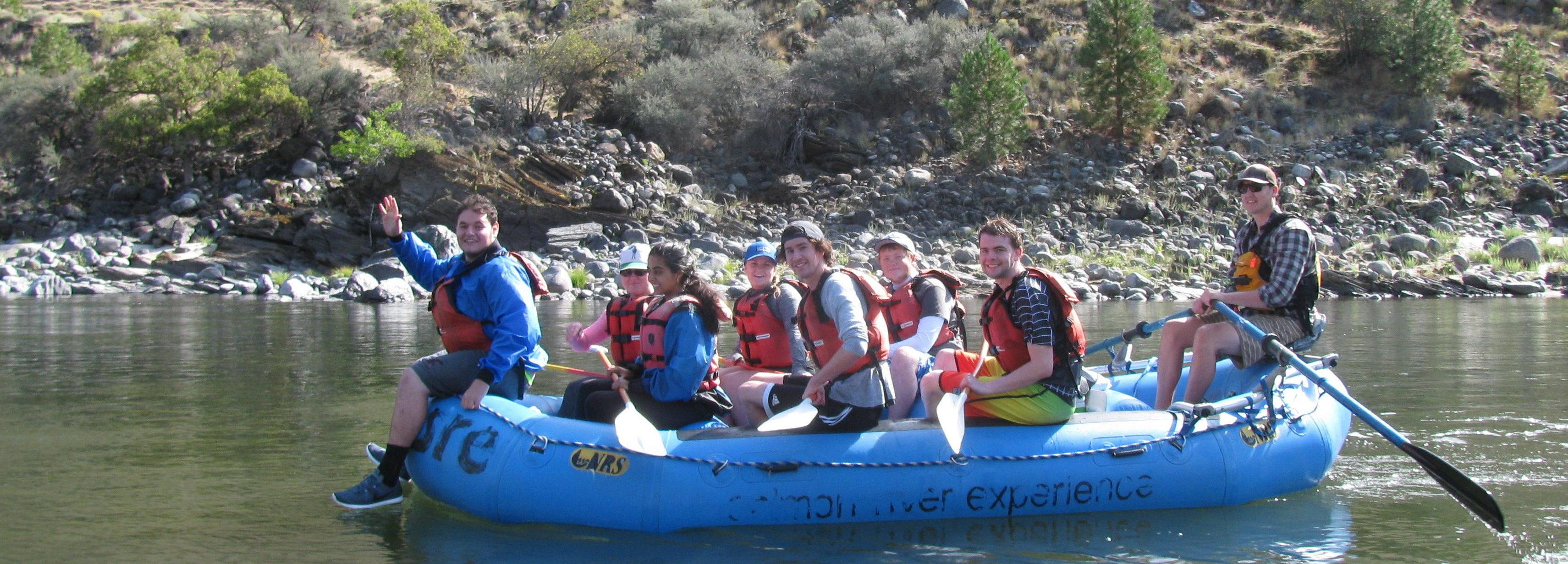 students on raft trip