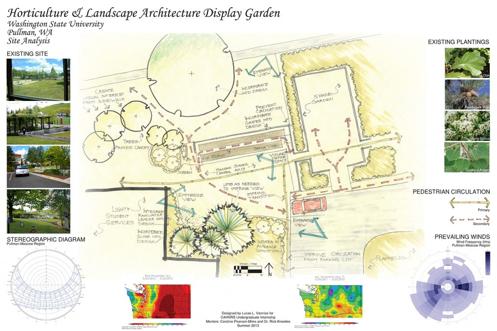 Drawing of display garden