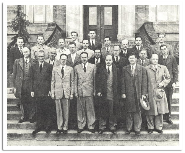 A black and white photo of the members of the Department of Plant Pathology
