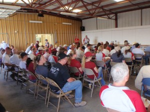 This is an image of the lunch program at the 2014 Field Day.