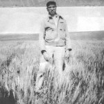This is an image of Walt Nelson in a field.