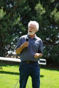 Jim Harsh speaking during the noon program.