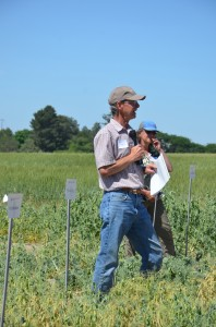 Stephen Guy at a field tour stop.
