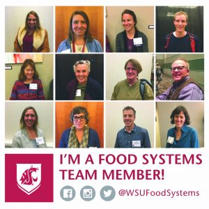 Food Systems Team collage with the text I'm a food systems team members @wsufoodsystems