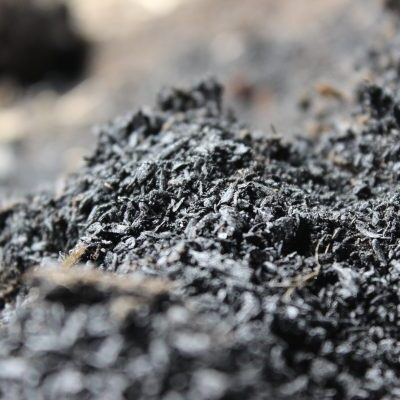 Close up of compost pile